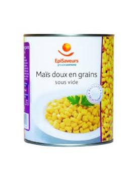 Mais doux en grains sous vides